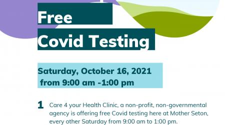 Free Covid Testing Saturday October 16