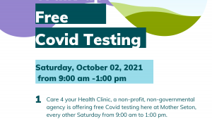 Free Covid Testing Saturday October 2